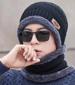 帽子男秋冬季毛線帽不含圍脖