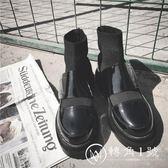 歐洲站馬丁靴女英倫短靴2018新款毛線口切爾西靴松糕底短筒靴子女