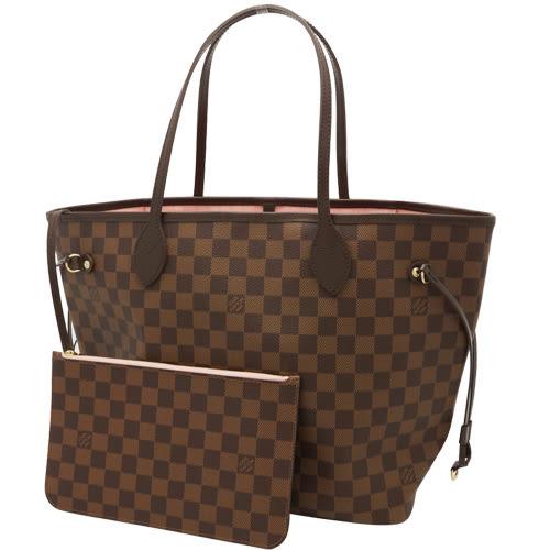 Louis Vuitton LV N41603 NEVERFULL MM 棋盤格紋子母束口購物包.中 全新 預購【茱麗葉精品】