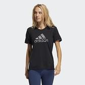 Adidas BOS NECESSI-TEE 女款黑色休閒短袖上衣-NO.GQ9412