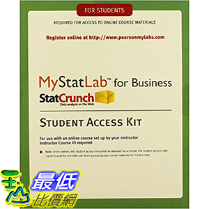 [106美國直購] 2017美國暢銷軟體 MyStatLab with eText for Business Statistics -- Standalone Access Card