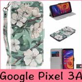 【萌萌噠】谷歌 Google Pixel 3A XL 可愛動物卡通彩繪側翻皮套 全包軟邊 可支架 插卡 磁扣 附掛繩