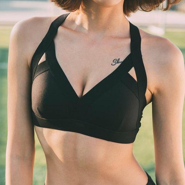 雙11狂歡節 無鋼圈高強度防震運動內衣女 聚攏定型健身背心跑步文胸專業bra 桃園百貨
