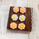 耳環 彩色 花朵 立體 層層 花瓣 清新 甜美 耳釘 耳環【DD1905111】 BOBI  07/25
