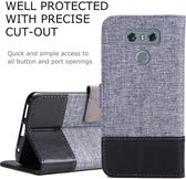 LG G5 SPEED G6 V20 十字紋拼色 牛皮 掀蓋磁扣手機套 手機殼 皮夾卡片式手機套 側翻可立式 外磁扣皮套