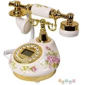 電話機 陶瓷田園仿古電話機家用臥室歐式復古固定電話客廳座機 新春禮物YYJ