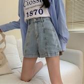 牛仔短褲女2020新款秋季高腰直筒寬鬆闊腿顯瘦百搭流行褲子ins潮 貝芙莉