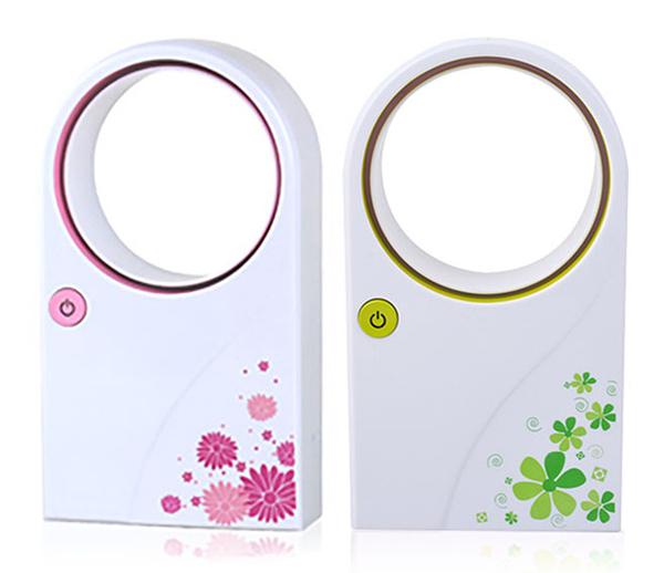 攜帶式移動式無葉迷你電風扇USB電池兩用【特價商品】