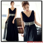 (45 Design) 訂做款式7天到貨 - 新款禮服長款連衣裙秋冬綴飾雪紡禮服黑色敬酒服晚禮服