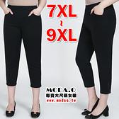 *MoDa.Q中大尺碼*【L4273-1】超顯瘦大彈力立體線條設計口袋八分褲