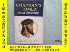 二手書博民逛書店英文原版書罕見CHAPMAN S HOMER THE ILISD AND THE ODYSSEY 884頁 詳細書