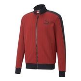 PUMA PINSTRIPE 男款紅黑色條紋立領外套-NO.53017750