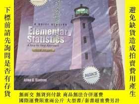 二手書博民逛書店A罕見BRIEF VERSION Elementary Statistics A Step by Step App