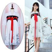 漢服女 中國風 雪紡連身裙 改良齊胸襦裙