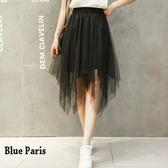 藍色巴黎 ★ 不規則雙層網紗及膝裙 / 蓬蓬裙  《2色》【23391】