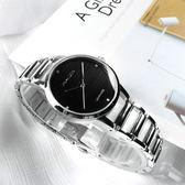 羅梵迪諾 Roven Dino / RD722S-black / Sandy吳姍儒廣告款 時尚晶鑽橫紋藍寶石水晶鏤空手錶 黑色 30mm