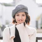 貝雷帽子女秋冬季日系復古文藝畫家帽百搭氣質八角帽韓版網紅人氣  快速出貨