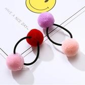 雙色甜美球球造型髮圈 兒童髮飾 髮圈