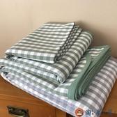 涼墊三件套純棉亞麻夏季涼席床席涼感【淘夢屋】
