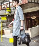 男包橫款手提包男士包包韓國韓系單肩包斜背包休閒商務皮包旅行包潮包【快速出貨】