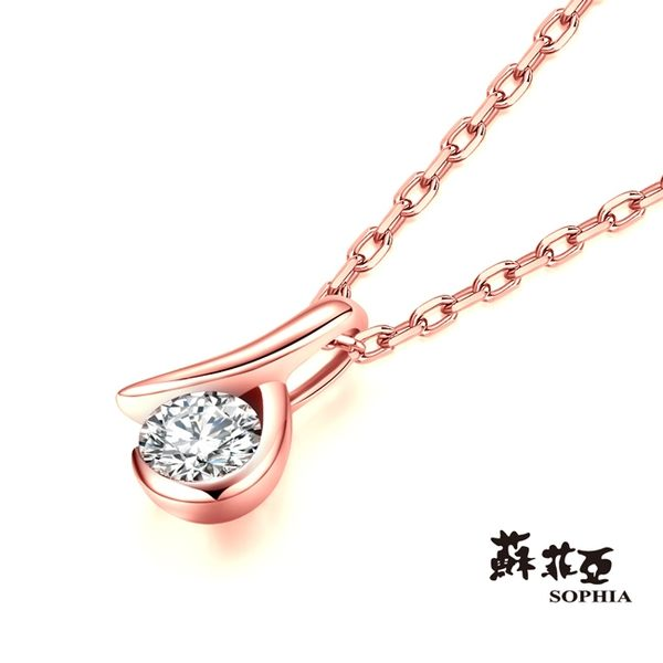 蘇菲亞SOPHIA - 雋永0.10克拉八心八箭玫瑰金套鍊