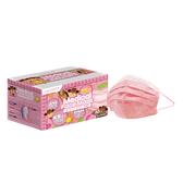 萊潔 醫療防護口罩兒童-童心牛仔玫瑰粉(50入/盒裝)