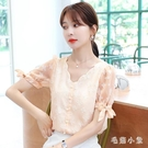 夏季雪紡衫襯衫女裝夏裝2020年新款潮時尚短袖上衣服洋氣小衫 LR26465『毛菇小象』