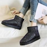 雪地靴雪地靴女秋冬新款百搭時尚加絨棉鞋加厚短筒厚底一腳蹬短靴子 新品
