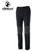 丹大戶外用品【Wildland】荒野 男Re彈性粗曠拼接保暖長褲 型號 0A52362-96 深鐵灰