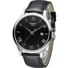 天梭 TISSOT Tradition系列 懷舊古典時尚腕錶 T0636101605800