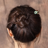 髮簪 古風簡約古裝漢服頭飾丸子頭盤髮木質簪子公主步搖流蘇髮釵女 快速出貨