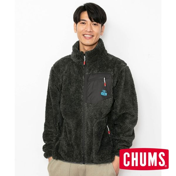 CHUMS 男 Bonding  刷毛外套 麻灰 CH041117G030