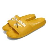 Reebok 拖鞋 Classic Slide 黃 白 男鞋 涼拖鞋 基本款 【PUMP306】 DV9405