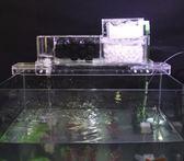 小號全配【NF476】1尺~2尺缸乾濕分離魚缸上濾盒 魚缸水族箱上置上部外置篩檢程式滴流盒過濾槽