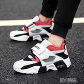 氣墊鞋 運動跑步鞋男士休閒板鞋韓版旅游氣墊鞋透氣網面戶外增高鞋 第六空間