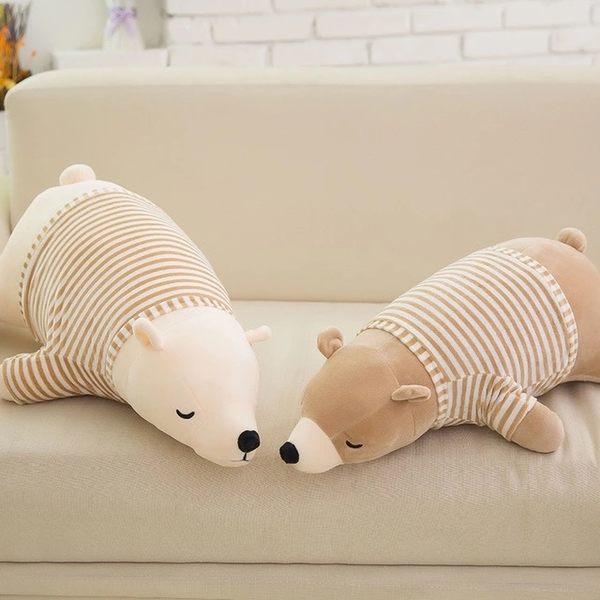 穿衣款新版可愛北極熊玩偶娃娃抱枕靠墊午睡枕禮物90CM(現+預)