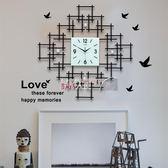 掛鐘 北歐靜音時鐘裝飾客廳臥室鐘表家用大氣電子創意藝術石英客廳掛鐘 數碼人生