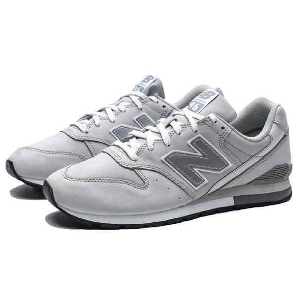 NEW BALANCE NB996 淺灰 麂皮 皮革 拼接 運動 復古 休閒鞋 情侶鞋 男(布魯克林) CM996RD