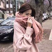 雙12購物節新款秋冬季韓版圍巾女針織加厚學生披肩百搭格子兩用保暖ins圍脖夏沫居家
