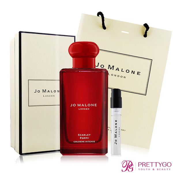 Jo Malone 緋紅罌粟芳醇香水 Scarlet Poppy(100ml)+罌粟花與大麥針管小香(1.5ml)[含禮盒提袋]【美麗購】