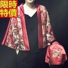 和服外套-復古寬鬆日式美女圖和風防曬女罩衫68af10【時尚巴黎】