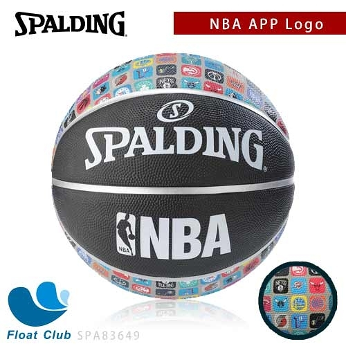 SPALDING 斯伯丁 NBA APP Logo 隊徽 籃球 7號 SPA83649 原價720元