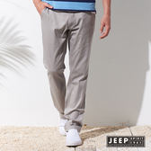 【JEEP】美式簡約素面休閒長褲 (淺灰色)