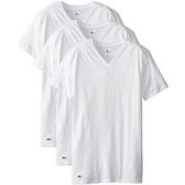 Lacoste 鱷魚男純棉V領T恤衫3包裝(白色)
