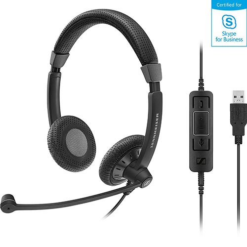 Sennheiser 聲海 SC 75 USB MS 雙耳耳麥 Skype for Business 認證