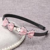 進口兒童大女童發箍簡約蝴蝶結寶寶頭箍學生發卡有帶齒【小梨雜貨鋪】