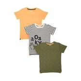 mothercare 綠橘3入短袖T-塗鴉系列(M0SC223)5歲