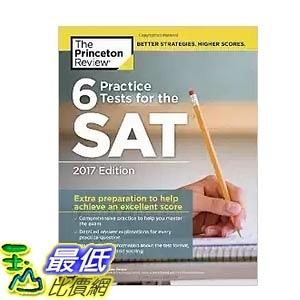 [美國直購] 6 Practice Tests for the SAT,練習考試 2017 Edition (College Test Preparation)