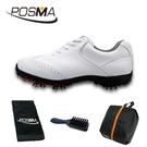 高爾夫球鞋 女款 英倫風 防水超纖皮 防水運動鞋 GSH080WHT