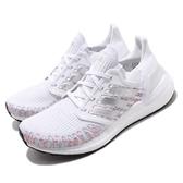 adidas 慢跑鞋 UltraBOOST 20 W 白 彩色 女鞋 編織鞋面 運動鞋 【ACS】 EG0728